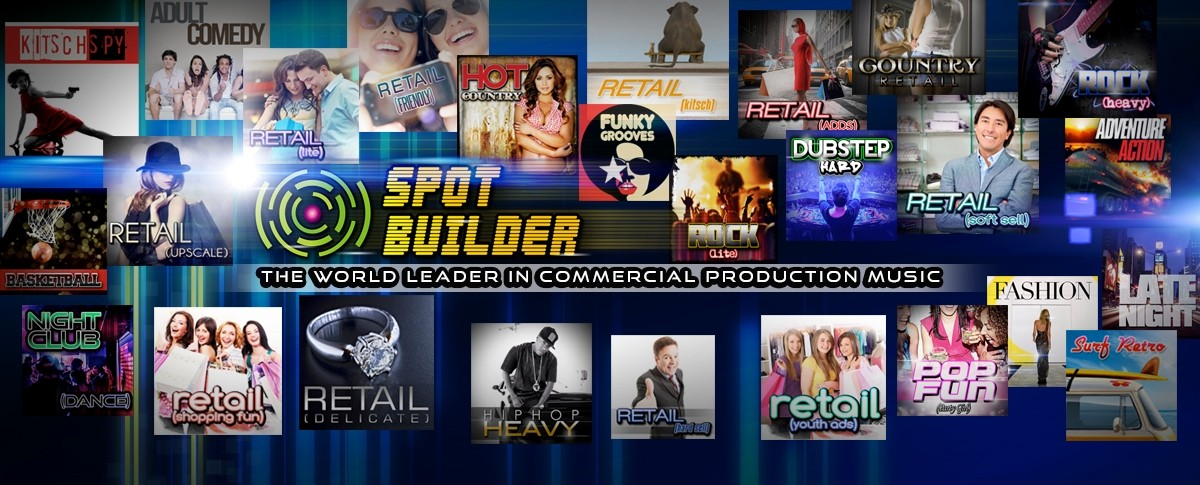 Commercial Production Music, Radio Station Production Music, Radio Station Commercial Music, Spot Builder